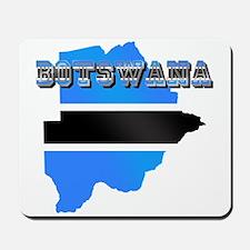 Botswana Flag Map Mousepad