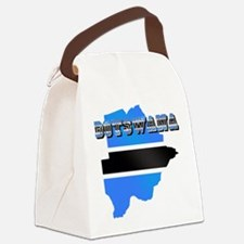 Botswana Flag Map Canvas Lunch Bag