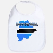 Botswana Flag Map Bib