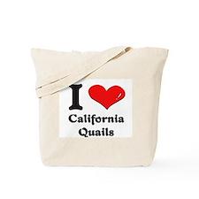 I love california quails Tote Bag
