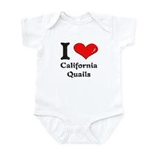 I love california quails  Infant Bodysuit