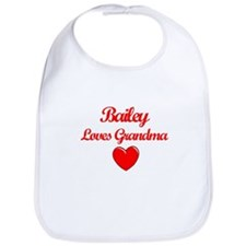 Bailey Loves Grandma Bib