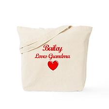 Bailey Loves Grandma Tote Bag