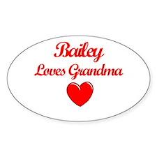 Bailey Loves Grandma Oval Decal