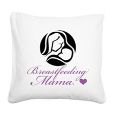 Breastfeeding Mama Square Canvas Pillow