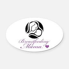 Breastfeeding Mama Oval Car Magnet