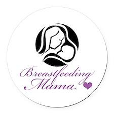 Breastfeeding Mama Round Car Magnet