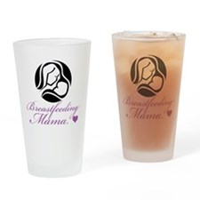 Breastfeeding Mama Drinking Glass