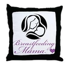 Breastfeeding Mama Throw Pillow