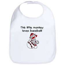 Little Monkey Loves Baseball Bib