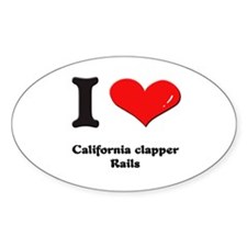I love california clapper rails Oval Decal