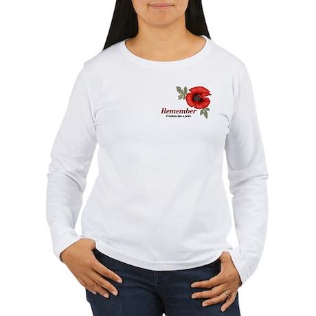Remember Poppy Women's Long Sleeve T-Shirt