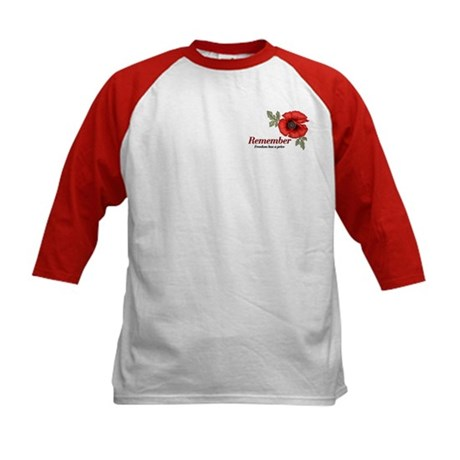 Remember Poppy Kids Baseball Jersey