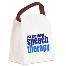 Speech Therapy Canvas Lunch Bag