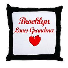Brooklyn Loves Grandma Throw Pillow