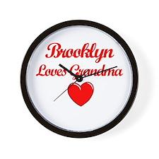 Brooklyn Loves Grandma Wall Clock