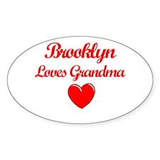 Brooklyn Loves Grandma Oval Decal