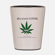 Happy Leaf Md Norml Shot Glass