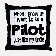 WIGU Pilot Uncle Throw Pillow