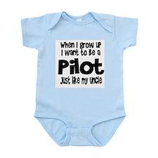 WIGU Pilot Uncle Infant Bodysuit