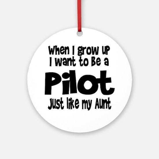 WIGU Pilot Aunt Ornament (Round)