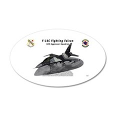 F-16C 18th AGRS on ramp Wall Decal