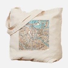 Vintage Map of Amsterdam (1905) Tote Bag
