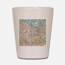 Vintage Map of Amsterdam (1905) Shot Glass