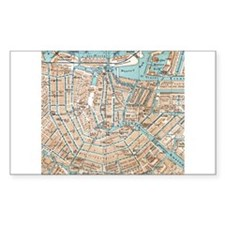 Vintage Map of Amsterdam (1905) Decal