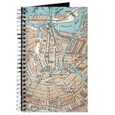 Vintage Map of Amsterdam (1905) Journal