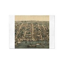 Vintage Pictorial Map of Alexandria VA (1863) 5'x7