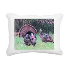 Wild Turkeys Rectangular Canvas Pillow