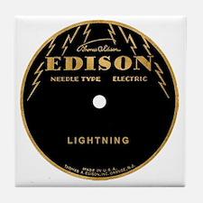 Vintage Edison Record Label Tile Coaster