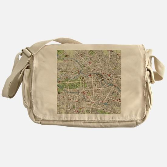 Vintage Map of Berlin Germany (1905) Messenger Bag