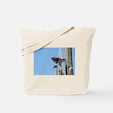 Harris Hawk Ruffling Feathers Tote Bag