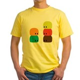 Jujubes Mens Yellow T-shirts