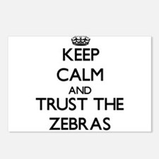 Keep calm and Trust the Zebras Postcards (Package