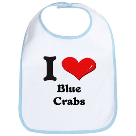 I love blue crabs Bib