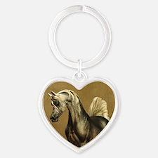 Funny Arabian horse Heart Keychain