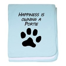 Happiness Is Owning A Portie baby blanket