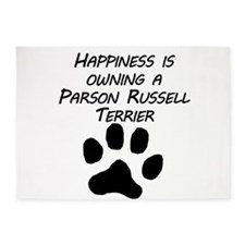 Happiness Is Owning A Parson Russell Terrier 5'x7'