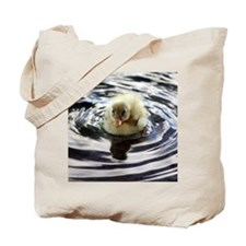Fuzzy yellow duckling Tote Bag