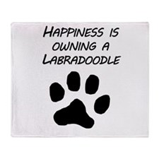 Happiness Is Owning A Labradoodle Throw Blanket