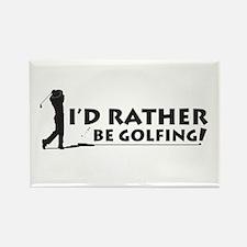 I'd rather be golfing! Rectangle Magnet