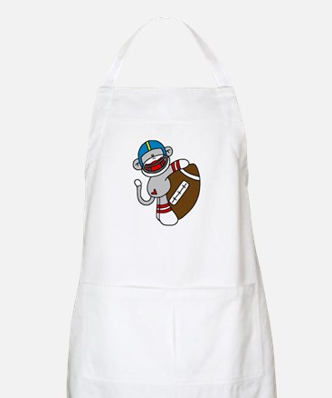 Sock Monkey Football BBQ Apron