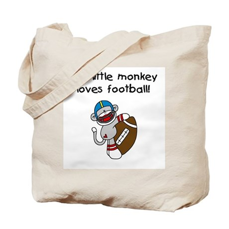 Little Monkey Loves Football Tote Bag