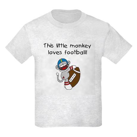 Little Monkey Loves Football Kids Light T-Shirt