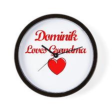 Dominik Loves Grandma Wall Clock