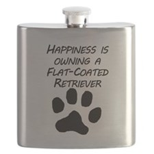 Happiness Is Owning A Flat-Coated Retriever Flask