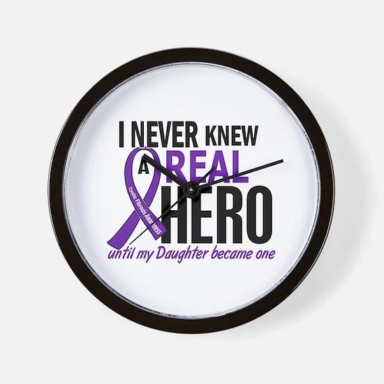 Cystic Fibrosis Real Hero 2 Wall Clock